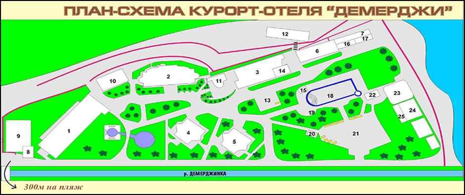 план отеля для сайта