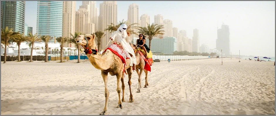 CJ Miles Riding a Camel in Dubai