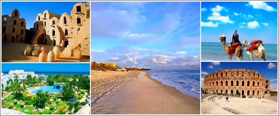 Удивительные пляжи с мелким песком-Тунис. Цены от  18500 рублей.