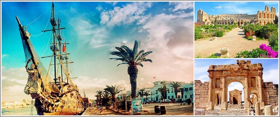 Песчаные пляжи Туниса, жду Вас. 8 дней за 20900 рублей.