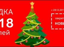 Поздравляем с Новым годом и дарим праздничную скидку!