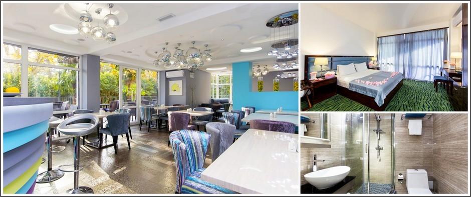 Sunrise Garden Hotel 3* - Отличный отель для любителей комфорта и Кавказской кухни: 8 дней отдыха в Гаграх за 7 900 рублей!