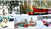 Новогодний Каринторф + хаски (1 день), стоимость от 1590 рублей.